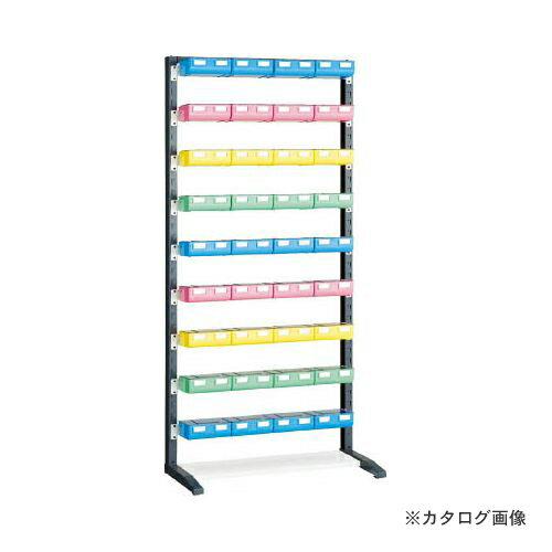 個別送料1000円 直送品 TRUSCO UPRラック H1900 ビン大青X12赤・黄・薄緑各8個付 蓋付 UPR-L1809BF