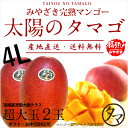 【送料無料】太陽のタマゴ(超特大玉2玉)最高級フルーツ宮崎の...