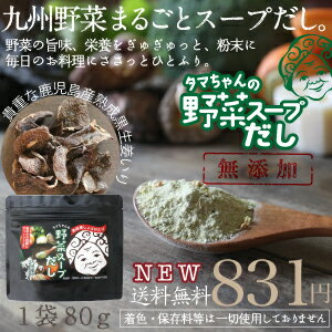 NEW【送料無料】タマチャンの九州野菜スープだし九州産野菜をたっぷり使用「ささっとひとふり…...:kyunan:10019986