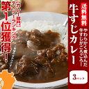 牛すじ カレー 200g×3パック お送料無料 取り寄せ 常温保存 レトルト 博多 惣菜 カレ