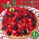 【送料無料】クリスマスケーキ フルーツ タルト「たっぷりあふ...
