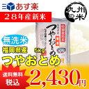 【無洗米】(28年産新米)(減農薬)(特別栽培米)つやおとめ 5kg (米)(お米)(おにぎらず)(送料無料)