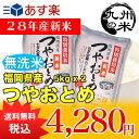 【無洗米】(28年産新米)(減農薬) つやおとめ 5kg×2袋 【10kg】(特別栽培米)(米)(お米)(送料無料)