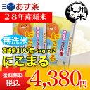 【無洗米】(28年産新米)(宮崎県えびの産)にこまる 5kg×2袋 【10kg】(米)(お米)(送料無料)