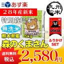 【無洗米】(28年産新米)ふりかけセット 熊本県産特別栽培米森のくまさん 5kg【5kg】(米)(お米)(送料無料)