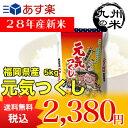 (28年産新米)(福岡県産)元気つくし 5kg(特A)(特別栽培米)(米)(お米)(送料無料)(減農薬)