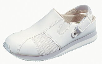10P28oct13 nurse shoes Omoiyari 511 silver 11412041