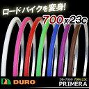 5,400円以上で送料無料 DURO 自転車タイヤ DB-7060 PRIMERA 700x23C 1本 ロードタイヤ タイヤのみ 700C 自転車 カラータイヤ ロードバ..