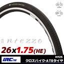 クロスバイク用タイヤ IRC 井上ゴム M125 INTEZZO インテッツオ 耐久性が高い スチールビード採用 耐パンクベルト搭載 ブラック