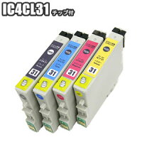IC4CL31【残量表示ICチップ付きセット】互換インクエプソンIC31プリンターインクEPSONPX-A550PX-V500PX-V600PX-A650PX-V630ICBK31ICC31ICM31ICY31インクカートリッジ送料無料【IC4CL313セット以上お買い上げであす楽対応】