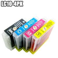 LC10-4PK【セット】互換インクブラザーbrotherLC10-4PKLC10LC10BKLC10CLC10MLC10YMFC-880870860850650630480460MFC-5860CNDCP-750350330155プリンターインクインクカートリッジ【LC10-4PK3セット以上お買い上げであす楽対応】株式会社来夢製