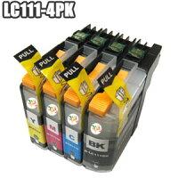 LC111-4PK�ڥ��åȡ۸ߴ�����LC111-4PK�֥饶��brotherLC111LC111BKLC111CLC111MLC111Yic���å��դ�DCP-J952NJ752NJ552NMFC-J870NJ980DNDWNJ890DNDWNJ820DNDWNJ720D�ڣ����åȰʾ太�㤤�夲�Ǥ������б��ۿ���V2���åס��������