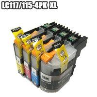 LC117/115-4PK【セット】互換インクLC117/115-4PKブラザー増量LC117BKLC115CLC115MLC115Yicチップ付きDCP-J4210NDCP-J4215NMFC-J4510NMFC-J4810DN【LC117/115-4PK3セット以上お買い上げであす楽対応】2014年9月以降に購入のプリンター使用不可