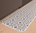 三愛繊維 60×180 キッチンマット 拭けるマットシリーズ モロッコ
