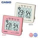 CASIO〔カシオ〕置き時計 アラーム機能なし 温度計・湿度計 PQL-10-4JH・PQL-10-7JH ピンク・ホワイト【D】
