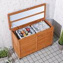 【送料無料】【屋外物置】木製ワイドストッカー WWS-970(収納・ガーデニング用品・掃除用品・ゴミ置き・ベランダ)アイリスオーヤマ