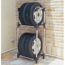 ステンレスタイヤラック カバー付KSL-590C タイヤ交換【送料無料】アイリスオーヤマ(収納用品・カー用品・ヨコハマタイヤにも使えます!)