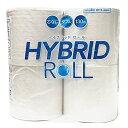 トイレットペーパー ハイブリッドロール 130m 4ロール ダブル 1903トイレットペーパー トイレットティッシュ 日用品 トイレ用品 ダブル 12ロール 白