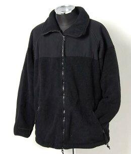 ブラック フリースジャケット ミリタリー