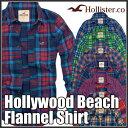 ホリスター Hollister メンズ 正規品 ネルシャツ:Hollywood Beach Flannel Shirt≪7色≫