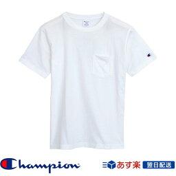 【2017新作】チャンピオン Champion ポケット付きTシャツ 2017SS C3-K340 ホワイト│White│白(c3-k340-010)