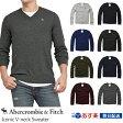 ショッピングAbercrombie アバクロンビー&フィッチ 正規品 アバクロ Abercrombie&Fitch メンズ Vネックセーター ニット:Iconic V-neck Sweater 《8色》