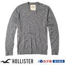 【新作!】ホリスター Hollister メンズ 正規品 セーター ニット Vネックセーター:V-Neck Icon Sweater - Grey│グレー│灰色
