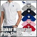 アバクロンビー&フィッチ 正規 アバクロ Abercrombie&Fitch クールビズにも最適 メンズ ポロシャツ:Baker Mountain Polo《6色》