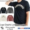 【期間限定SALE!】アバクロンビー&フィッチ 正規品 アバクロ Abercrombie&Fitch メンズ ロンT Tシャツ Logo Graphic Lon...