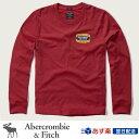 アバクロンビー&フィッチ 正規品 アバクロ Abercrombie&Fitch メンズ ロンT Tシャツ Logo Graphic Long Sleeve Tee - Red