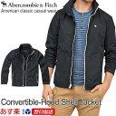 アバクロンビー&フィッチ 正規品 アバクロ Abercrombie&Fitch メンズ ナイロンジャケット ウィンドブレーカー:Convertible-Hood...