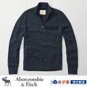 アバクロンビー&フィッチ 正規 アバクロ Abercrombie&Fitch メンズ モックネックセーター コットン ニット ハーフジップ:Wool Milit...