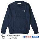 【新作!】アバクロ Abercrombie&Fitch アバクロンビー&フィッチ Vネックセーター Icon V-Neck Sweater ネイビー【US限定モデル】