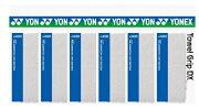 【次回2019年1月10日頃入荷予定】【よりどり3個で送料無料】【同色ホワイト6個セット】YONEX(ヨネックス)タオルグリップ1本入ホワイトAC402DX-011-6SET【定番】●●