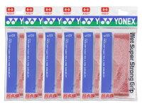【送料無料】【同色ワインレッド6本セット】YONEX(ヨネックス)ウエットスーパーストロンググリップ1本入りAC133-037-6SET【定番】●●の画像