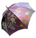【送料無料】日本製 東京プリントレディース・ウィメンズ華麗に美しく柄60cm 手開き傘パープル302TP-034-PU【18☆】【婦人傘】【雨傘】