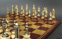 イタリア製チェスメン&チェスボードセット camelot179mw202gr