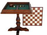 フィレンツェから届くイタリア製チェスボード付きテーブル!お部屋のアクセントにも♪【レビューを書くと 】イタリア製オルモ-モザイク ウッドチェステーブル【アンティーク加工】tav450【YDKG-m】