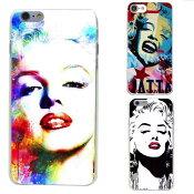 【メール便送料無料】【人気商品】iphoneケース マリリンモンロー art アート Marilyn Monroe おしゃれ 絵画風【iphone8/7、iphone8plus/7plus、iphoneX、iphone6/6s、iphone6plus/6splus】