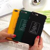 【メール便送料無料】【人気商品】iphoneケースシンプルかわいいおしゃれkeepcalmスマイルsmileハッピーhappy【ブラック、グリーン、イエロー】【iphone8/7、iphone8plus/7plus】