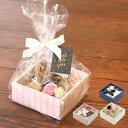 ショッピングケーキ 【バレンタイン ラッピング】【ラッピング用品】Box kit ボックスキットSS(OPP袋・紐付きミニカード・リボン付きタイ・花付タイ付き)