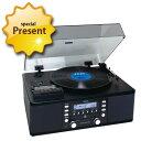 TEAC ターンテーブル/カセットプレーヤー付CDレコーダー LP-R550USB-B 多機能オーディオ