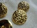 21mmお買い得なゴールドカラーのボタン 4個入りGRB-0
