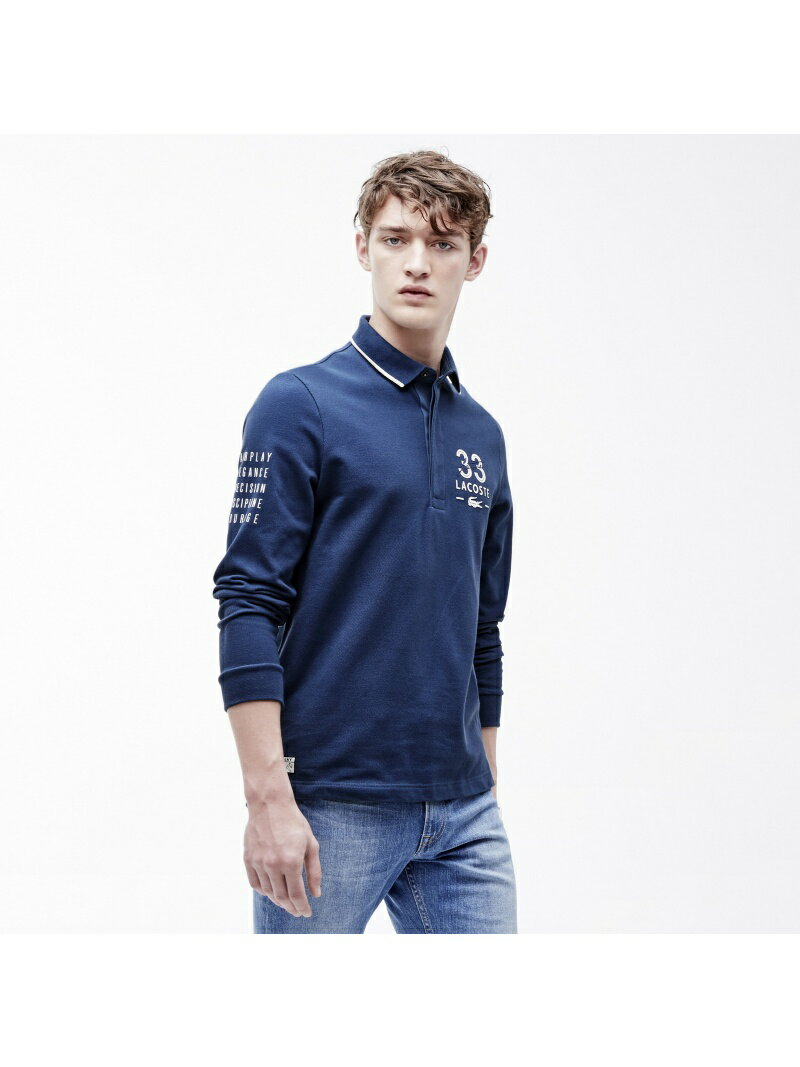 【dl】LACOSTE (M)セーリング ポロシャツ (長袖) ラコステ カットソー【RBA_S】【RBA_E】【送料無料】