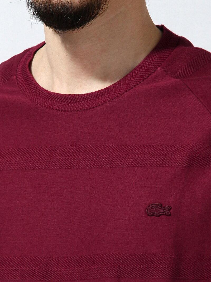 【0216_m】LACOSTE メンズ カットソー ラコステ LACOSTE (M)ヘリンボーン Tシャツ (長袖 やや厚手) ラコステ カットソー【RBA_S】【RBA_E】