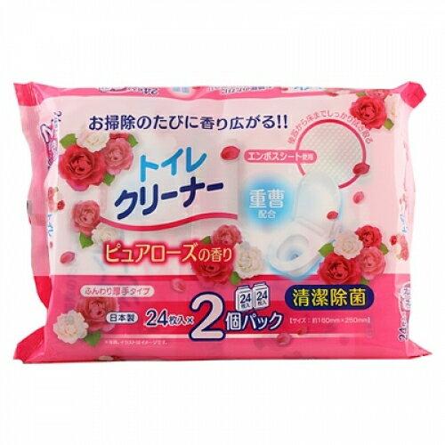 香るトイレクリーナー ピュアローズの香り (24枚×2P)