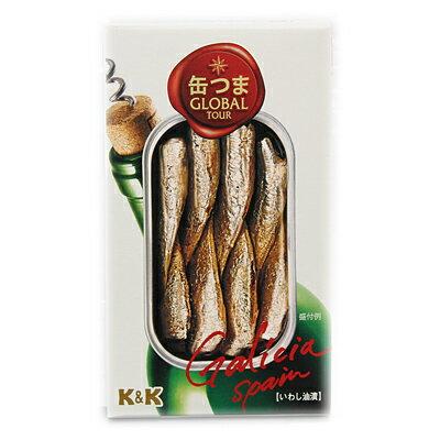 K&K 缶つまGROBAL TOUR 小鰯のオリーブオイル