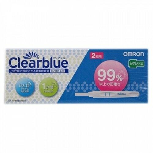 【第2類医薬品】メディズワン オムロン妊娠判定薬クリアブルー 2回用