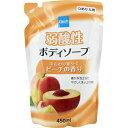 クレシュ 弱酸性ボディソープ ピーチの香り つめかえ用 450ml※取り寄せ商品(注文確定後6-20日頂きます)