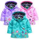 子供 パーカー アウトドア ジャケット 女の子 アウター スタジャン ブルゾン Kids キッズウェア ジュニア ジュニア服 4色